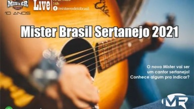Mister Brasil Sertanejo 2021 será escolhido também pelo talento musical