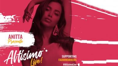 Anitta é a única brasileira a participar do Altísimo Live! nesta terça, dia 5