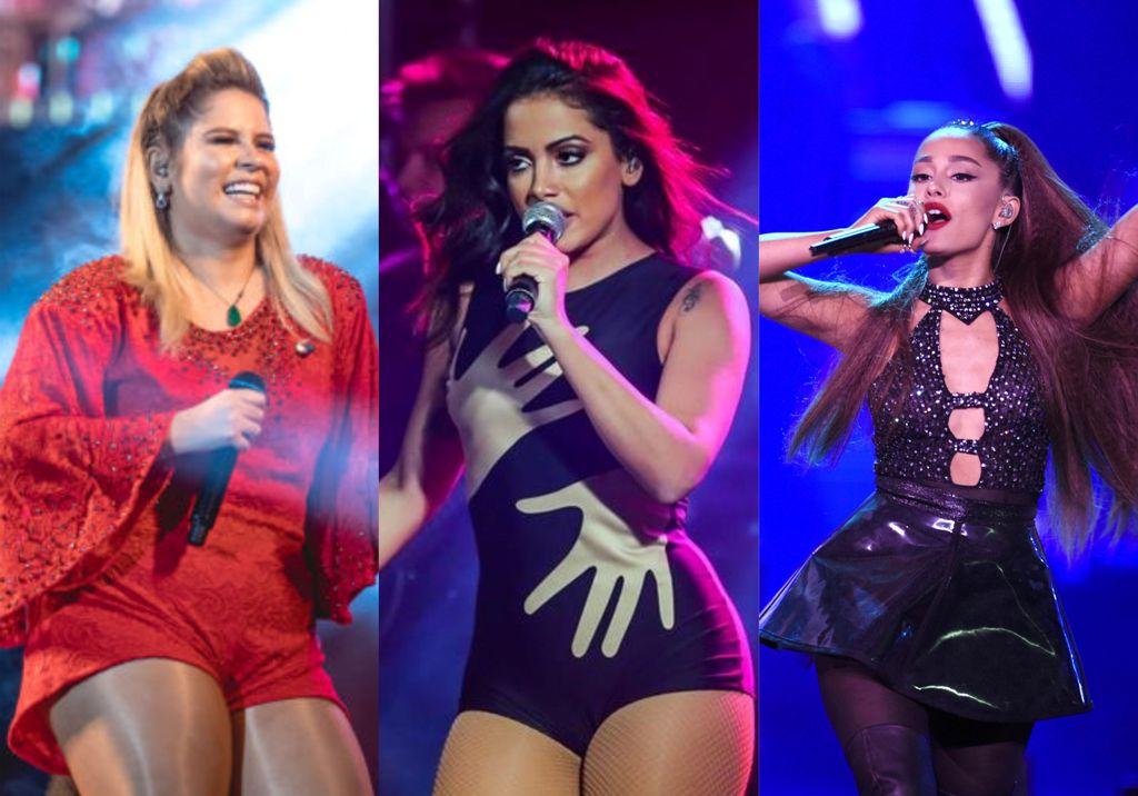 Marilia Mendonça e Anitta são as mais tocadas no Brasil